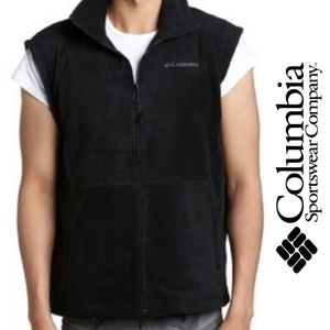 BOGO Men's Columbia Black Fleece Vest